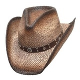 Dark Brown Straw Hat