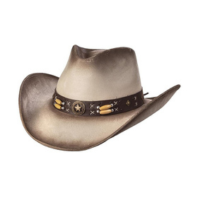 Suede like hat - Star concho