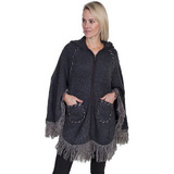 Scully - poncho Charcoal