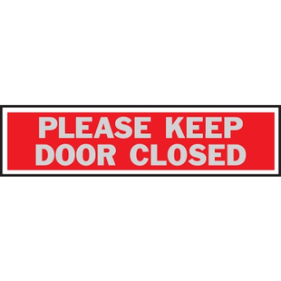 Kyltti-PLEASE KEEP DOOR CLOSED